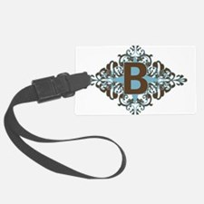 B Monogram Personalized Letter Luggage Tag