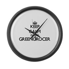 Keep calm I'm the Greengrocer Large Wall Clock
