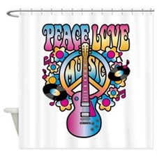 Peace Love & Music Shower Curtain