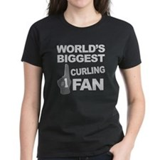 Curling Fan foam hand Tee
