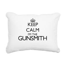 Keep calm I'm the Gunsmi Rectangular Canvas Pillow