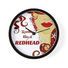 Rockin' like a REDHEAD Wall Clock