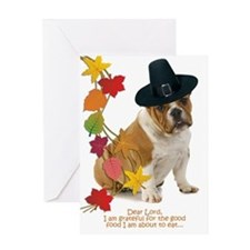 Funny Bulldog Thanksgiving Greeting Cards