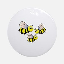 Three Bees Ornament (Round)