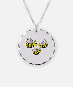 Three Bees Necklace