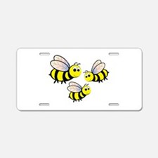 Three Bees Aluminum License Plate