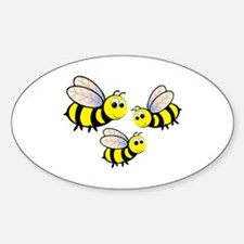 Three Bees Decal