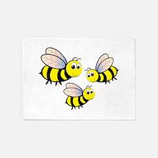 Three Bees 5'x7'Area Rug