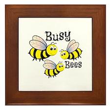 Busy Bees Framed Tile