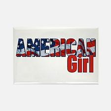 American Girl Rectangle Magnet