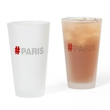 Hashtag Paris Drinking Glass