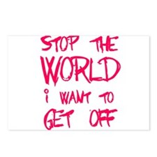 Stop The World I Want To Get Off Postcards (Packag