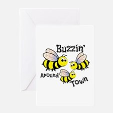 Buzzin Around Greeting Cards