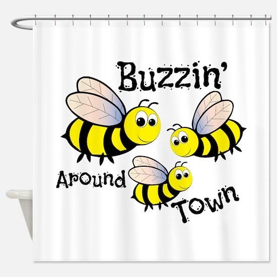 Buzzin Around Shower Curtain