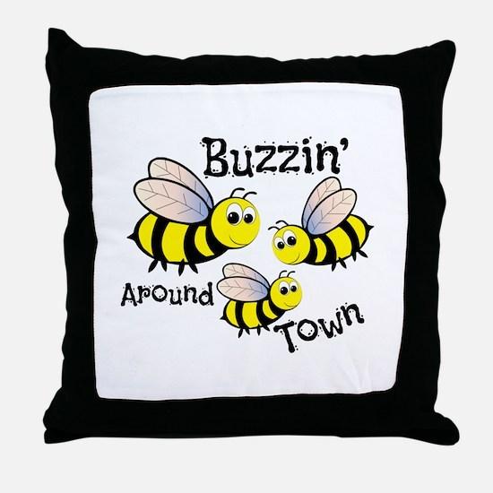 Buzzin Around Throw Pillow