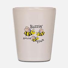 Buzzin Around Shot Glass