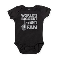 Tennis Fan foam hand Baby Bodysuit