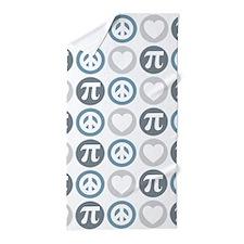 Peace Love Pi Pattern Beach Towel