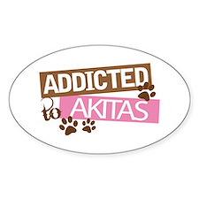 Akita Dog Addict Decal