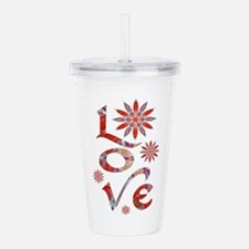 Love - Attraction Flow Acrylic Double-wall Tumbler