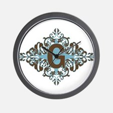 G Monogram Personalized Letter Wall Clock