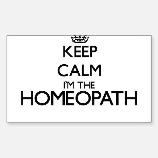 Keep calm I'm the Homeopath Decal
