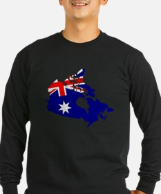 Australia inside Canada Long Sleeve T-Shirt