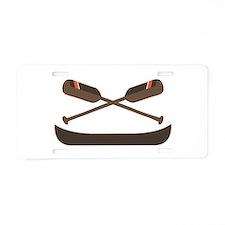 Row Canoe Aluminum License Plate
