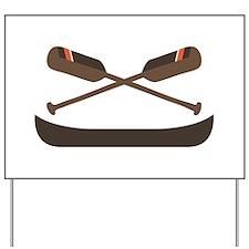 Row Canoe Yard Sign