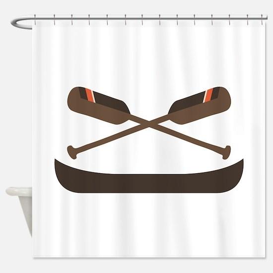 Row Canoe Shower Curtain