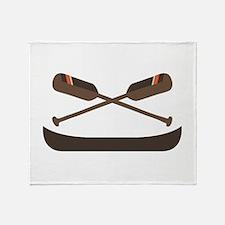 Row Canoe Throw Blanket