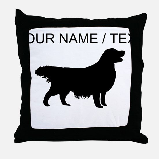 Custom Golden Retriever Silhouette Throw Pillow