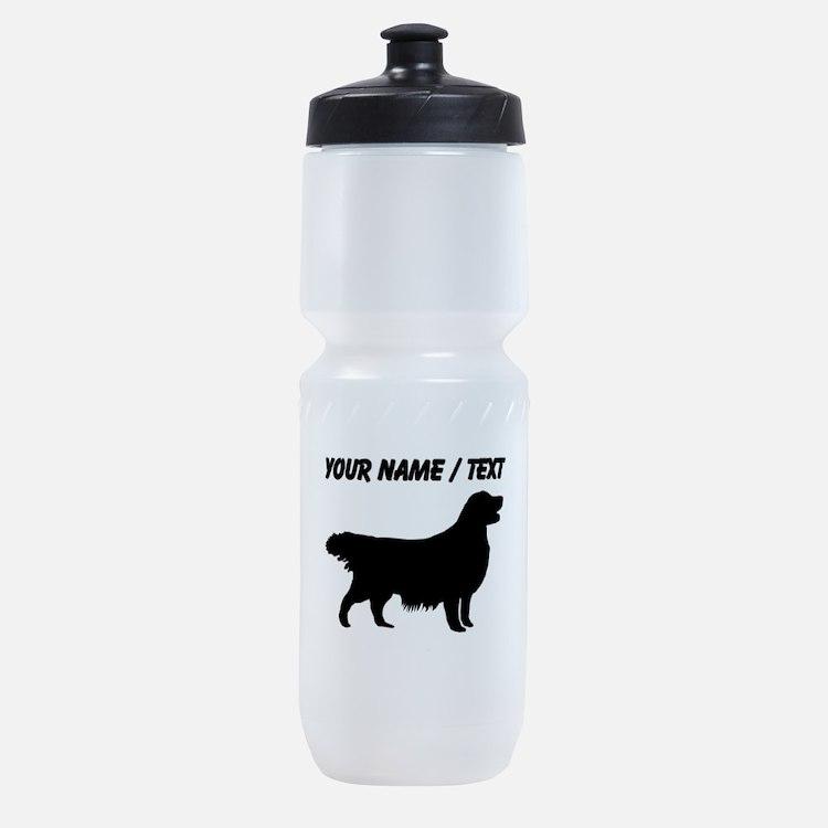 Custom Golden Retriever Silhouette Sports Bottle