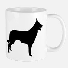Border Collie Silhouette Mugs