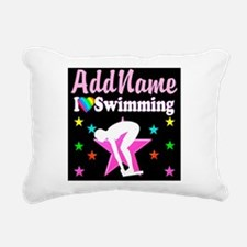 AWESOME SWIMMER Rectangular Canvas Pillow