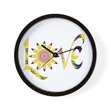Love - Omm Flower P Wall Clock