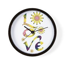 Love - Omm Flowers Wall Clock
