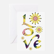 Love - Omm Flowers Greeting Cards