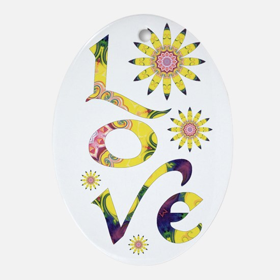 Love - Omm Flowers Ornament (Oval)