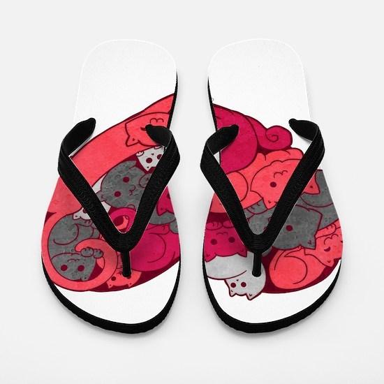 Cute Kitteh Flip Flops