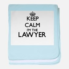 Keep calm I'm the Lawyer baby blanket