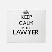 Keep calm I'm the Lawyer Throw Blanket