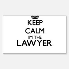 Keep calm I'm the Lawyer Decal