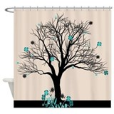 Flowery shower curtain Shower Curtains
