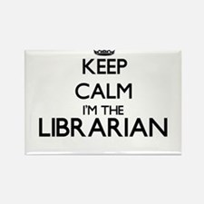 Keep calm I'm the Librarian Magnets