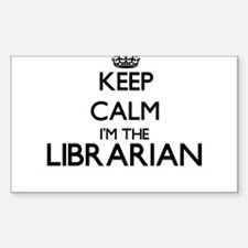 Keep calm I'm the Librarian Decal