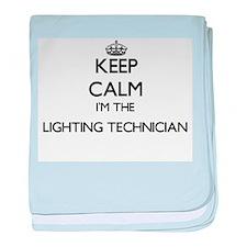 Keep calm I'm the Lighting Technician baby blanket