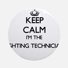 Keep calm I'm the Lighting Techni Ornament (Round)