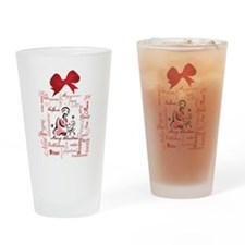 The gift of Christmas Drinking Glass