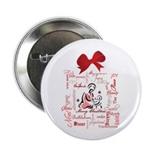 """The gift of Christmas 2.25"""" Button (100 pack)"""